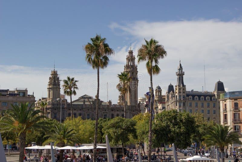 Widok Barcelona od morza zdjęcie royalty free