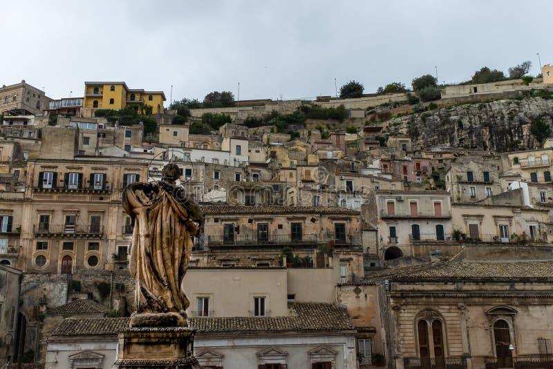 Widok barokowy miasto odrobiny, Sicily obrazy royalty free