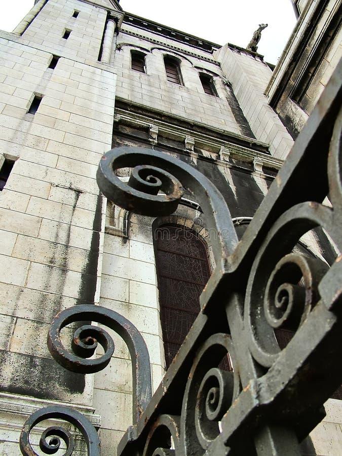 Widok bazylika Sacre Coeur w Paryż obraz royalty free