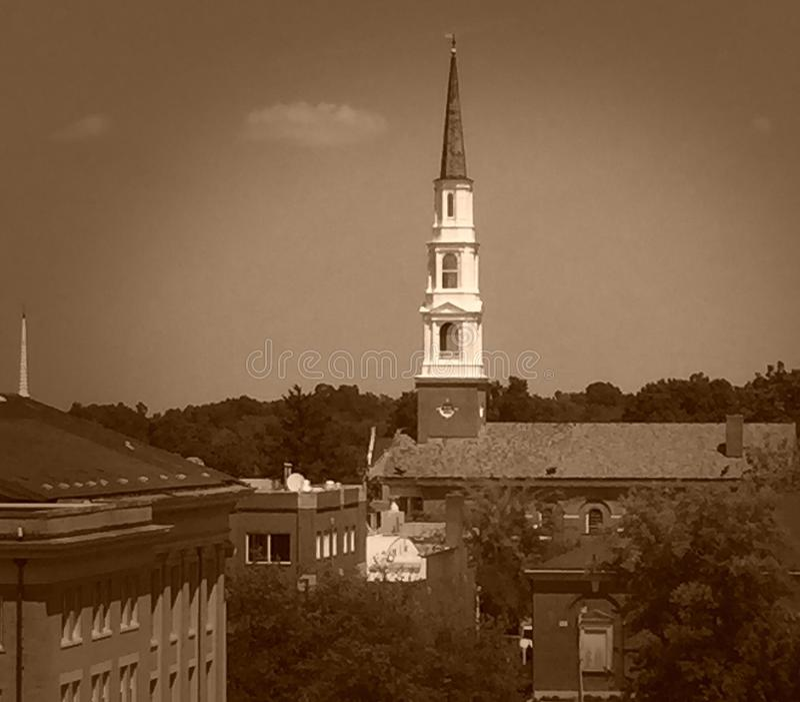 Widok Bell w kaplicy wzgórzu, NC zdjęcia royalty free