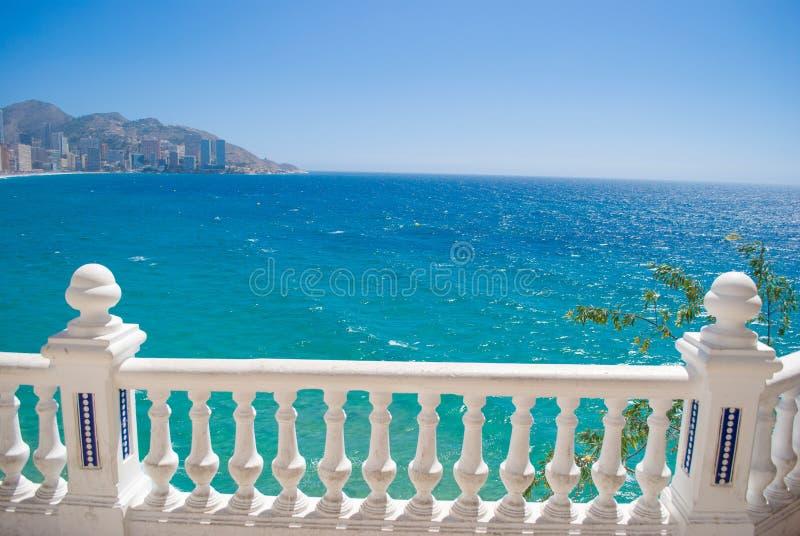 Widok Benidorm, Hiszpania, w lecie zdjęcia royalty free