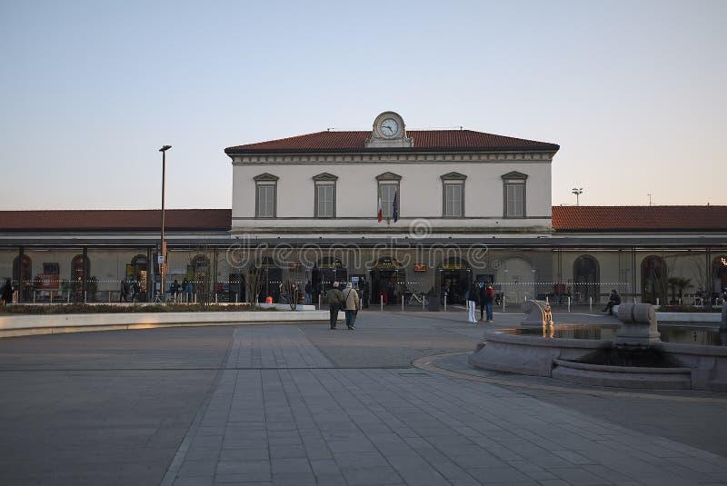 Widok Bergamo stacja kolejowa obrazy stock