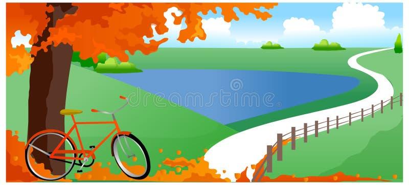 Widok bicykl ilustracja wektor