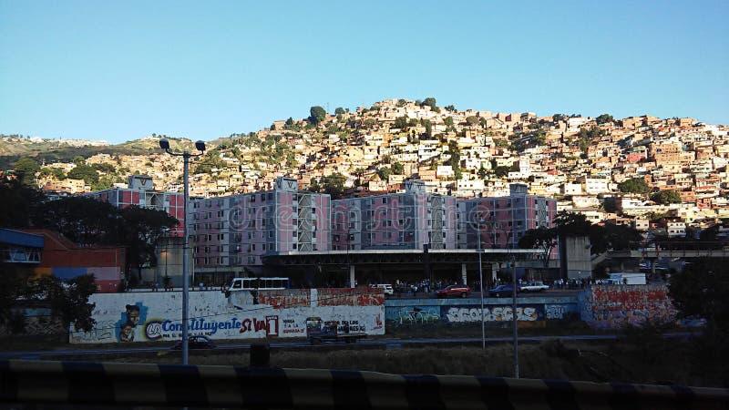 Widok biedne sąsiedztwo w Caracas fotografia royalty free
