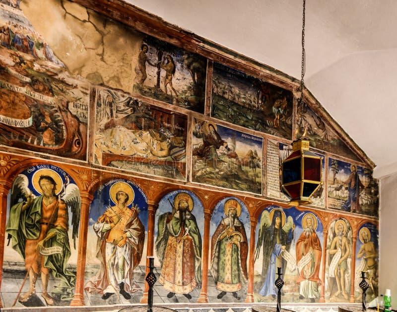 Widok Bigorski monasteru St John baptysta, Rostusha, Północny Macedonia zdjęcie royalty free