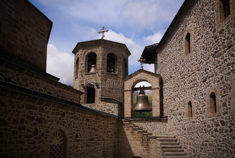 Widok Bigorski monasteru St John baptysta, Rostusha, P??nocny Macedonia fotografia royalty free