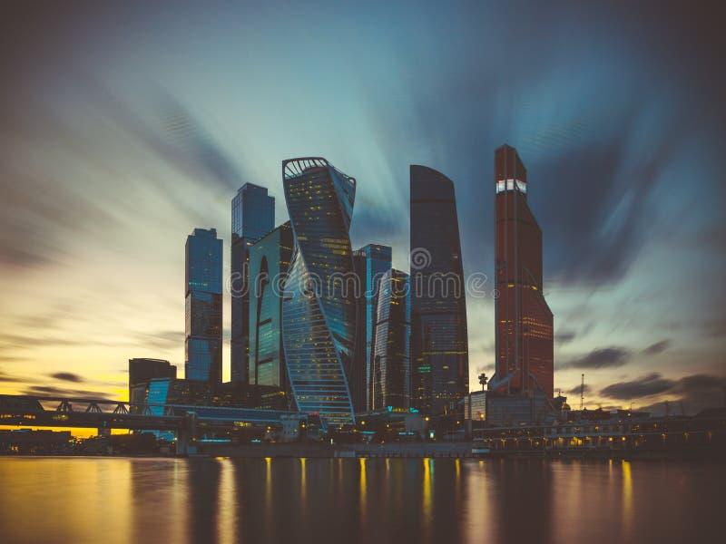 Widok biznesowa ćwiartka w mieście Moskwa Rosja fotografia royalty free