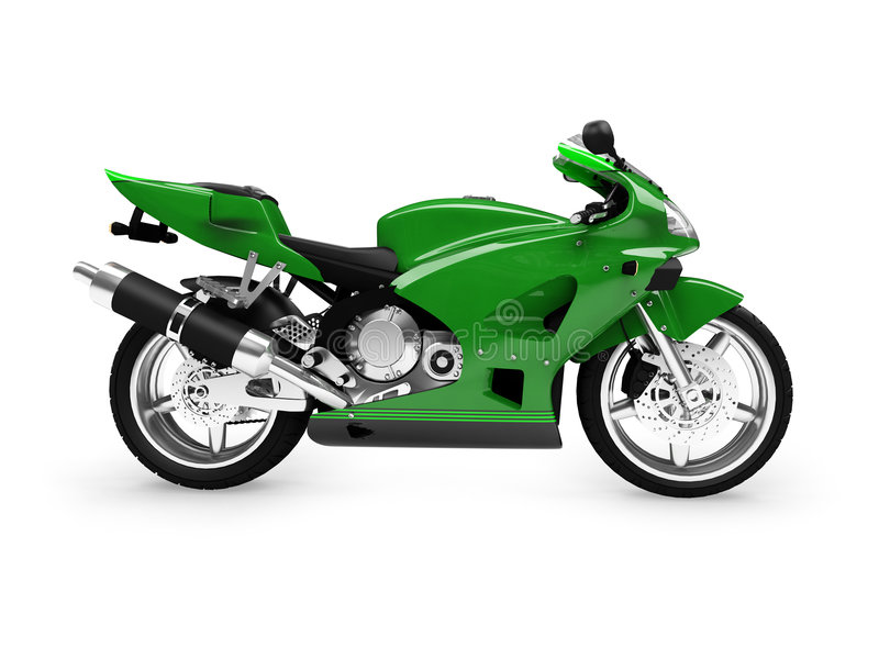 widok boczny odizolowane motocykla ilustracja wektor