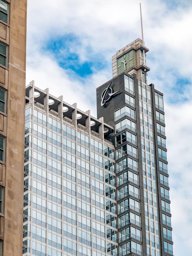 Widok Boeing budynek w Chicago, Illinois obraz royalty free