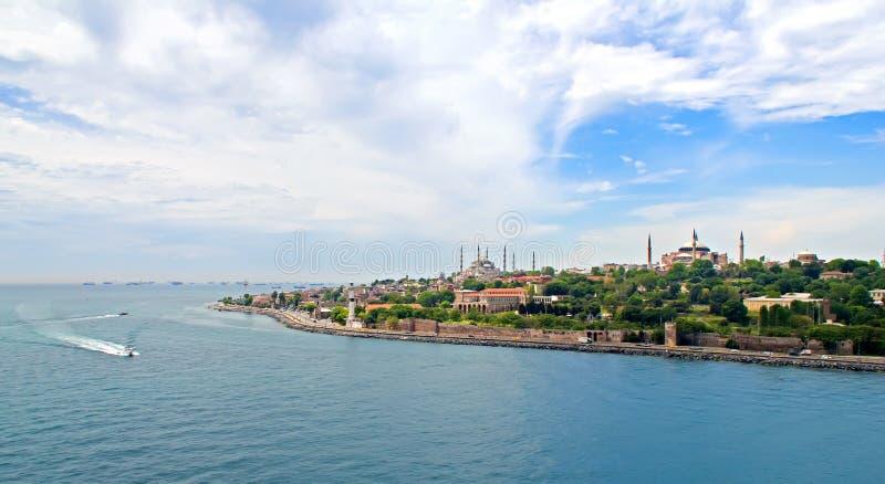 Widok Bosporus i Istanbuł obraz stock