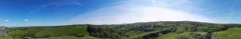 Widok Brecon bakanów park narodowy od okno kasztel zdjęcie stock