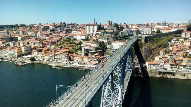 Widok bridżowy wykładowca Luis Ja w Porto, Portugalia obrazy stock