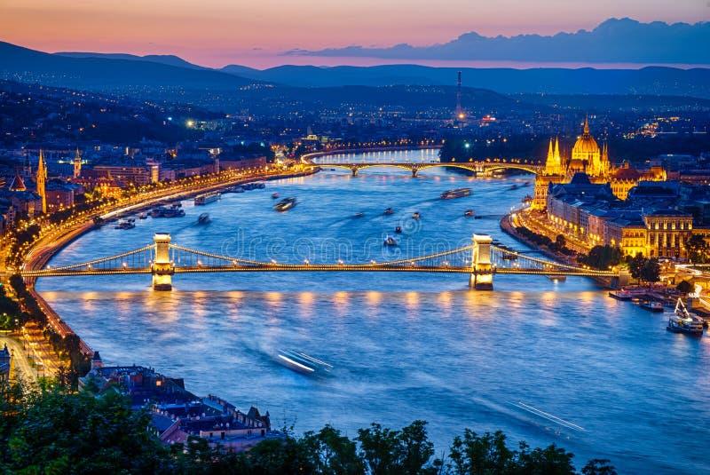 Widok Budapest Miasto fotografia royalty free