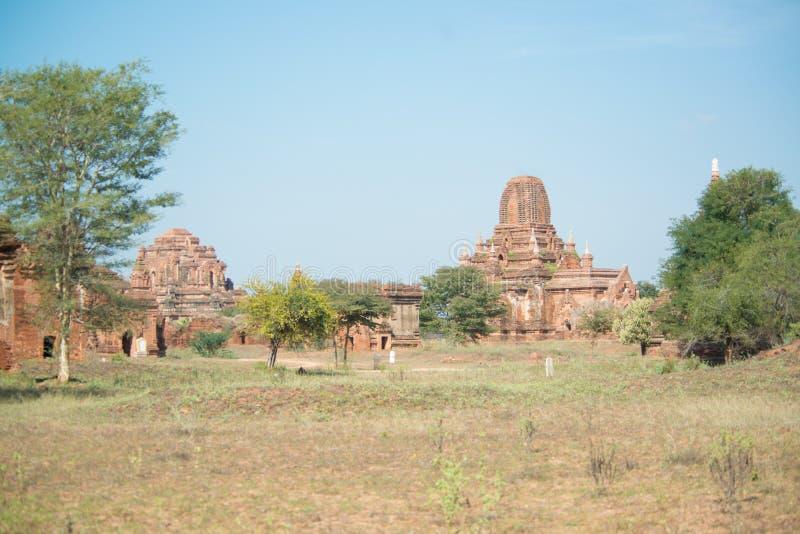 Widok buddyjskie świątynie w Bagan, Myanmar fotografia royalty free