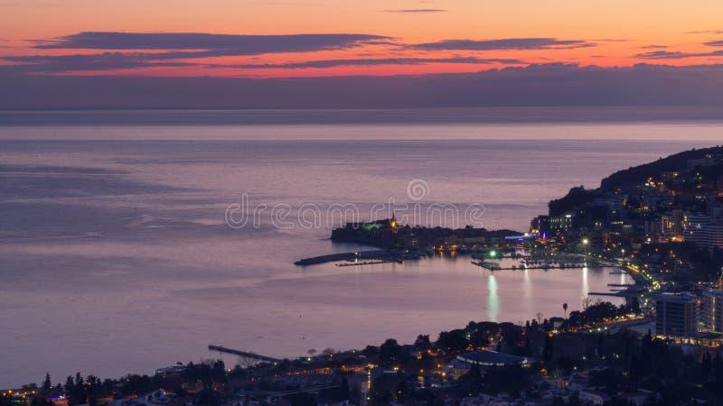 Widok Budva od above zdjęcia royalty free