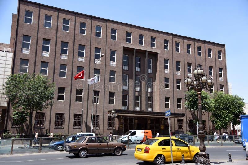 Widok budynek Środkowy bank republika Turcja, Ankara gałąź fotografia stock