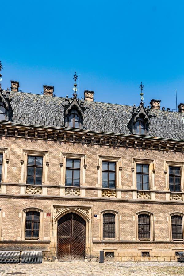 Widok budynek w Praga Casle kompleks w Prague, republika czech obraz stock
