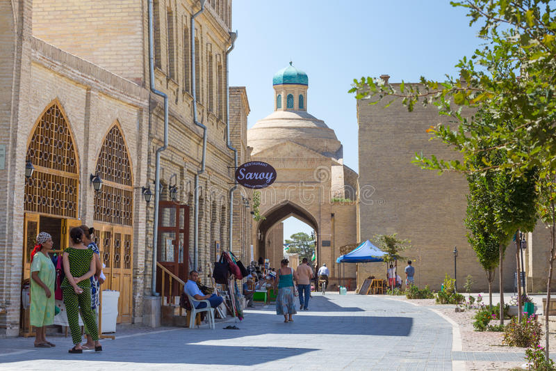 Widok Bukhara Buxoro w Uzbekistan, obraz royalty free