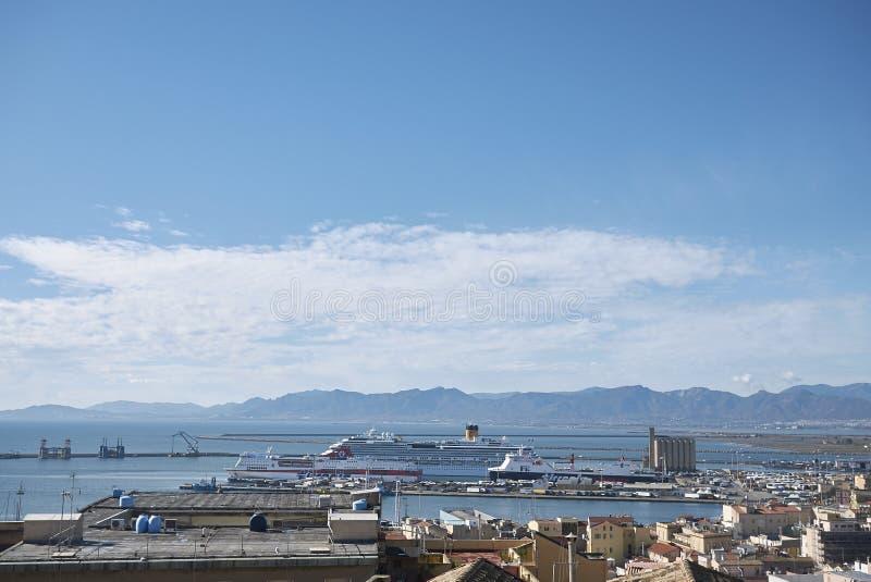 Widok Cagliari zdjęcia stock