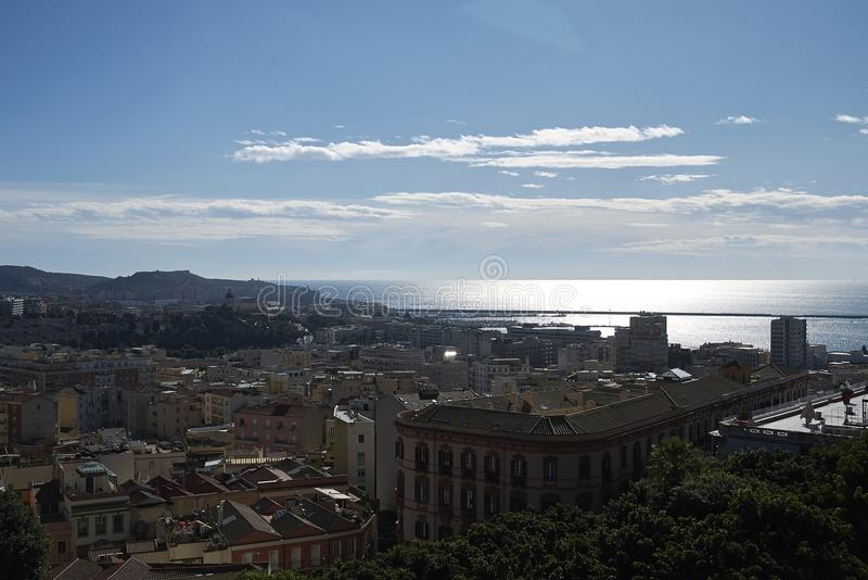 Widok Cagliari obrazy royalty free