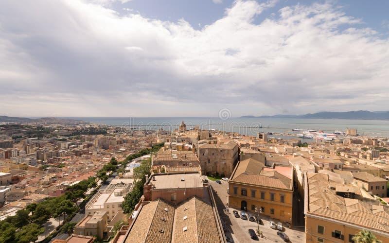 Widok Cagliari, Sardinia, Włochy obrazy stock