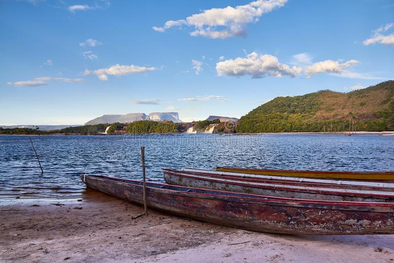 Widok Canaima laguna obrazy royalty free