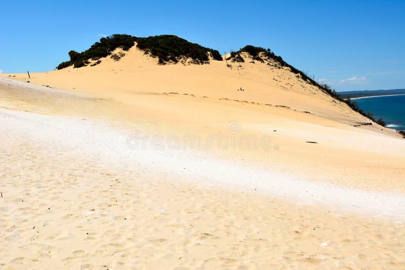 Widok Carlo Sandblow nad tęczy plaża na Fraser wybrzeżu Queensland, Australia fotografia royalty free