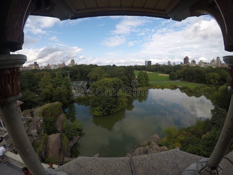Widok central park fotografia stock