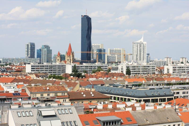 Widok centrum Austriacki kapitał Wiedeń fotografia royalty free