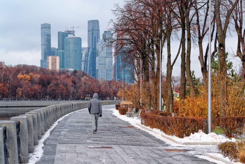 Widok centrum biznesu i biuro Moskwa Voroby i miasto obrazy royalty free
