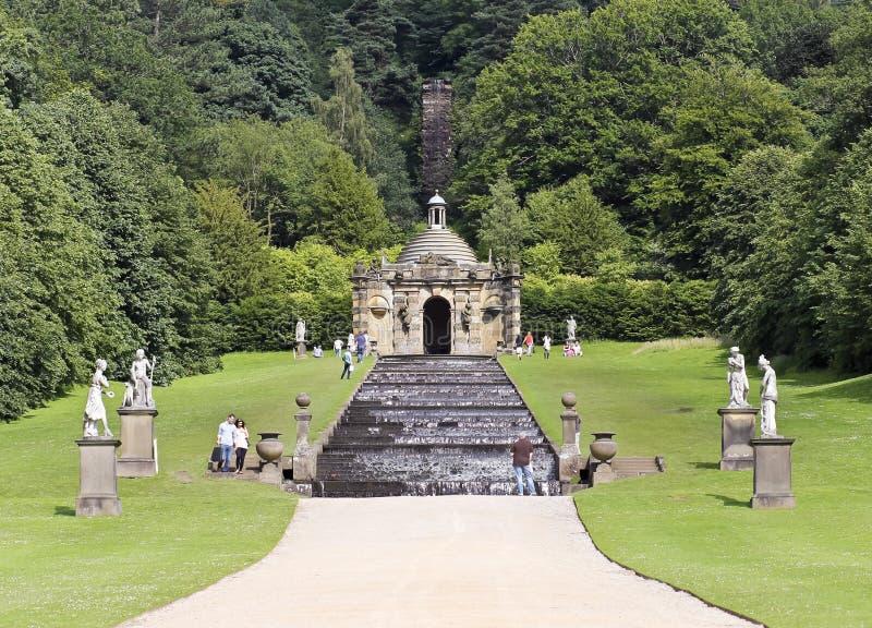 Widok Chatsworth Domu Kaskada, Anglia obraz stock