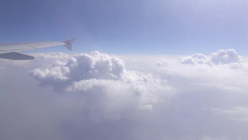 Widok chmury od samolotowego ` s okno zdjęcia royalty free