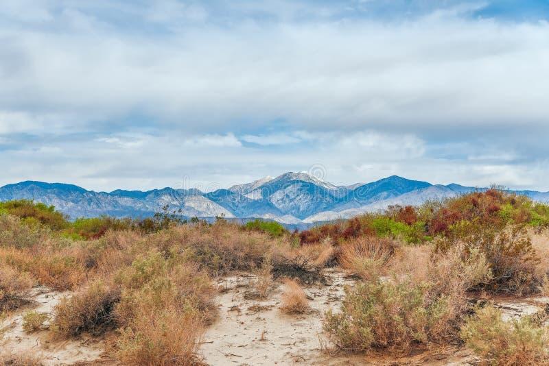 Widok Coachella dolina od Pustynnych Gor?cych wiosen Po?udniowy Kalifornia USA obraz royalty free