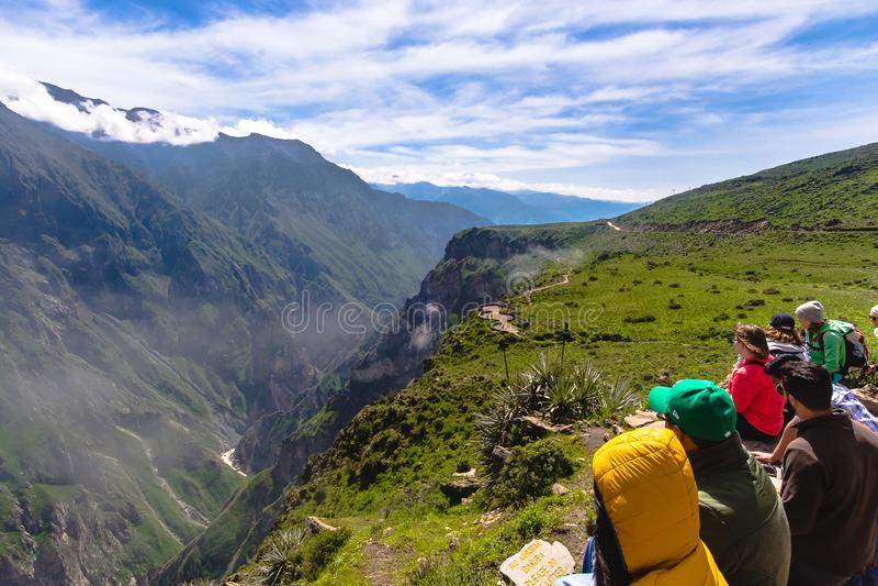 Widok Colca jar, Peru obrazy royalty free
