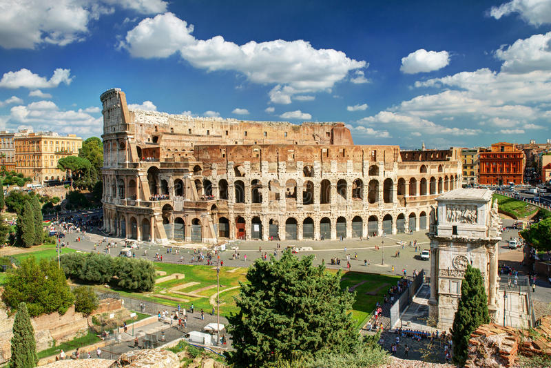 Widok Colosseum w Rzym obraz royalty free