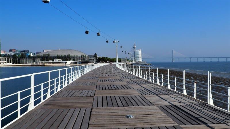 Widok colours miasto Lisbon w Portugal zdjęcie stock