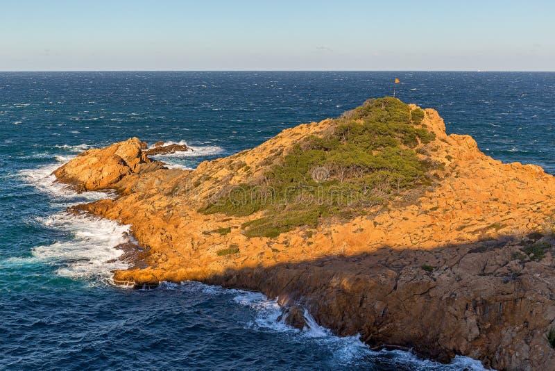 Widok Costa Brava od Cami de Ronda fotografia stock