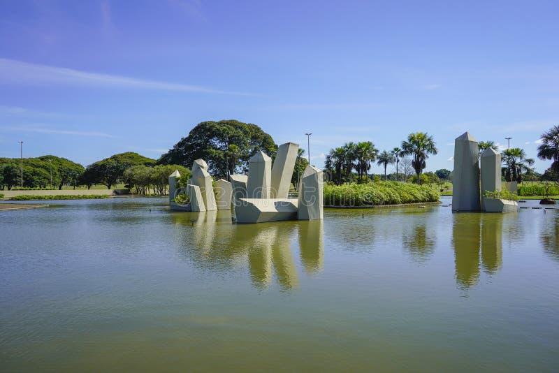 Widok Cristal kwadrat w Brasilia, Brazylia fotografia stock