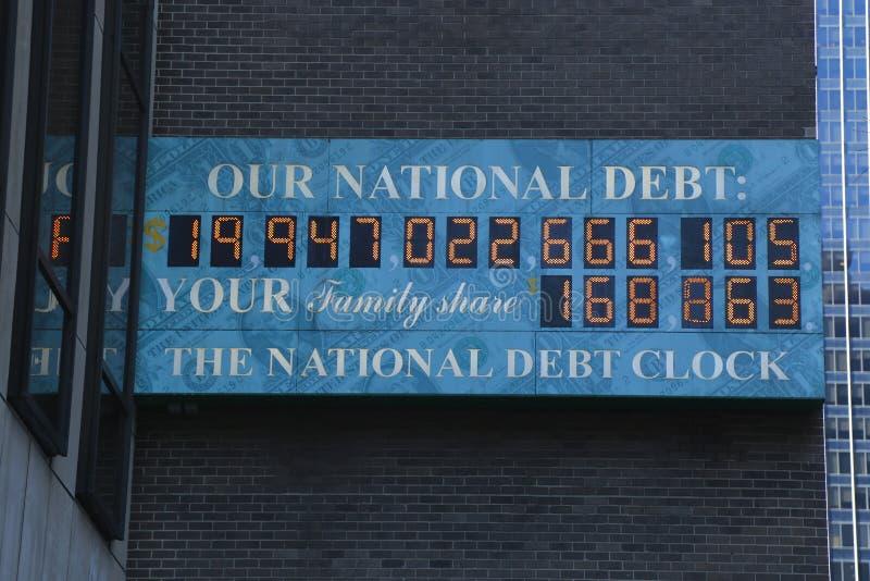 Widok długu publicznego zegar w środku miasta Manhattan obrazy stock