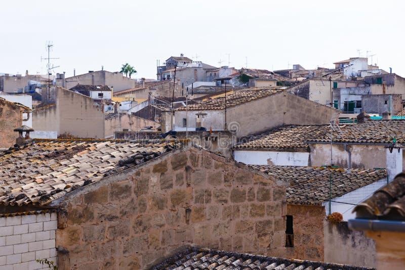 Widok dachy antyczny, historyczny miasteczko, zdjęcie royalty free