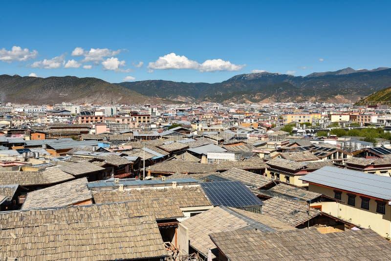 Widok dachy Dukezong antyczny miasteczko obrazy royalty free