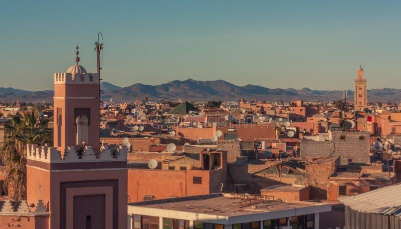 Widok dachy Marrakech zdjęcie royalty free