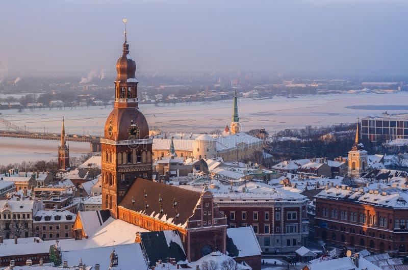 Widok dachy stary miasto fotografia royalty free