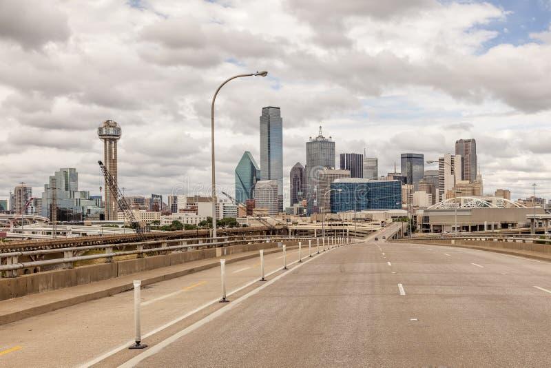 Widok Dallas śródmieście obrazy royalty free