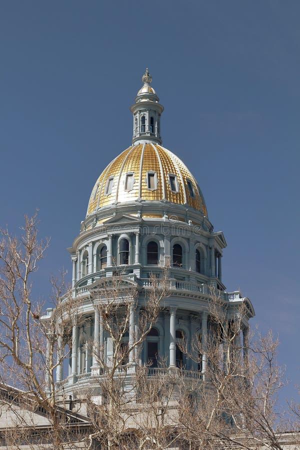 Widok Denwerski Kolorado Capitol zdjęcie stock