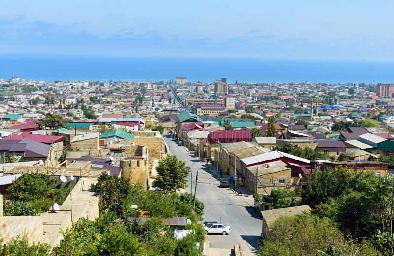 Widok Derbent miasto Republika Dagestan, Rosja fotografia royalty free