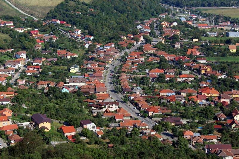 Widok Deva miasto zdjęcie royalty free