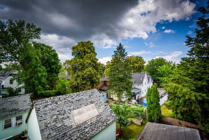 Widok domy w Piscataquog, Machester, New Hampshire zdjęcie royalty free
