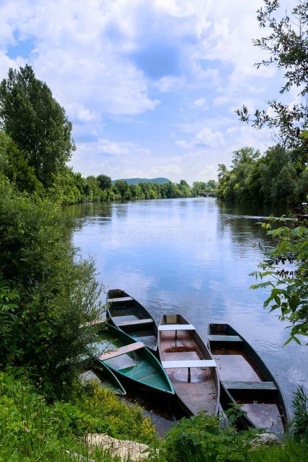 Widok Dordogne dolina fotografia royalty free