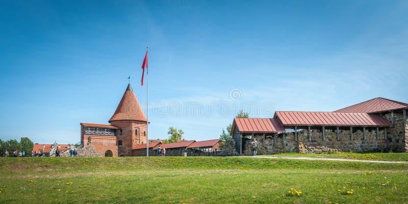 Widok dziejowy gothic Kaunas kasztel od średniowiecznych czasów w Kaunas obraz stock